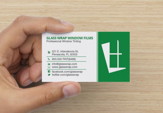 Glass Wrap Window Tinting Business Card