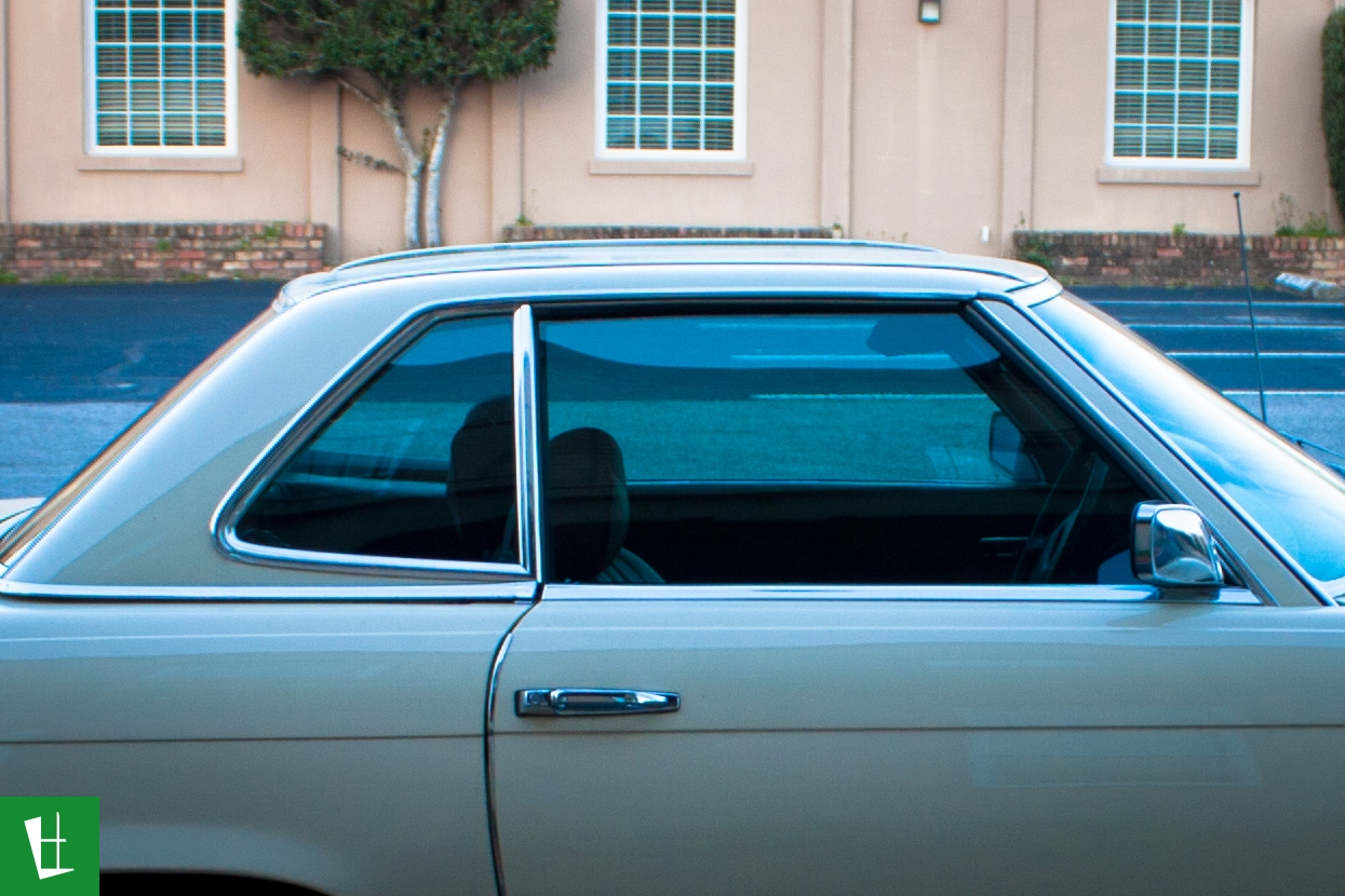 Glass wrap 1973 mercedes benz 450 sl window tinting for Mercedes benz blue window tint