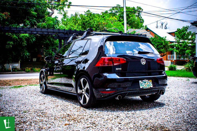 2014 VW Golf GTI Window Tinting in Pensacola (1)