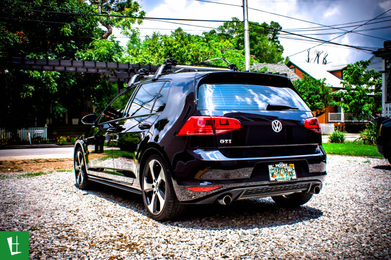 2014 VW Golf GTI Window Tinting in Pensacola (10)